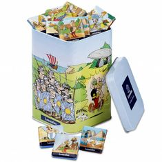 Buy Leonidas 2018 : Asterix Tin Box Napolitains, 400 g for delivery in United Kingdom. GiftsForEurope is the leading gift provider in Europe since Back To School Gifts For Teachers, Gifts For Kids, Chocolates, Barley Flour, Malted Barley, Whole Milk Powder, Milk Protein, Belgian Chocolate, Sodium Bicarbonate