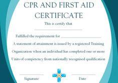 16 First Aid Certificate Ideas First Aid Certificate Certificate Templates