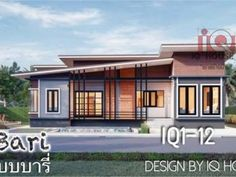 Simple and Elegant Small House Design With 3 Bedrooms and 2 Bathrooms - Ulric Home Model House Plan, My House Plans, Bedroom House Plans, Single Storey House Plans, One Storey House, Modern Bungalow House Design, Simple House Design, Two Story House Design, House Construction Plan