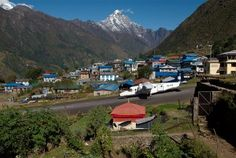 Lukla is 2850 m is the arrival gateway to the Khumbu region and a popular starting point for many treks into the shadow of Mt. Everest.