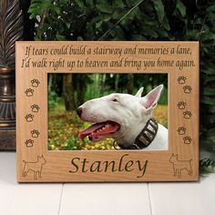 Personalized Bull Terrier Dog Lover Gifts | Custom If Tears Poem Dog Breed Memorial Frame | EtchedInMyHeart.com