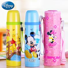 Disney 304 Stainless Steel Water Bottles Thermos Cups Coffee Mug Thermal Cup Drinking Water Kettle Pupils Thermos Bottles
