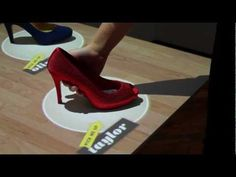 Pick up the shoe and watch what happens! #Interactive #Retail