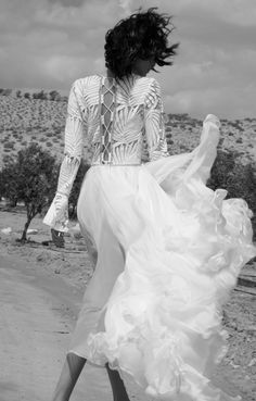 Dana Harel Design / Bridal Gown / Long-Sleeved Bride Dress / Wedding Style Inspiration / The LANE