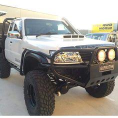Save by Hermie Nissan 4x4, Nissan Trucks, Toyota Trucks, Nissan Patrol Y61, Patrol Gr, Custom Canopy, Truck Mods, Bull Bar, Four Wheel Drive
