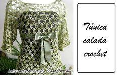 Túnica calada tejida con ganchillo | Todo crochet