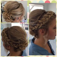 Bridesmaid formal braided style By Carrie Murtaugh