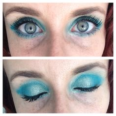 New splurge cream shadow! I applied 'Heavenly' Moodstruck mineral pigment wet with rosewater, and applied Elegant cream shadow on inner corners. Finished with mascara! Lip Colour, Eye Color, Brow Filler, Splurge Cream Shadow, 3d Mascara, Hair Chalk, Rose Water, Heavenly, Turquoise Necklace