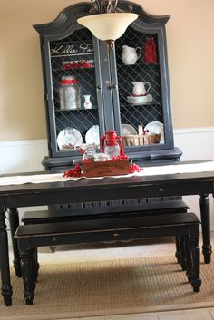 Vintage Farm Furniture (one of my favorite blogs-local store)  Decorating with RED!