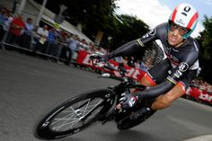 Switzerland's Fabian Cancellara competes in the 6.4 km individual time-trial and prologue of the 2012 Tour de France around Liege, on June 30, 2012. (Lionel Bonaventure/AFP/Getty Images) #
