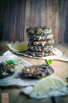 Wild Rice and Speck Fritters