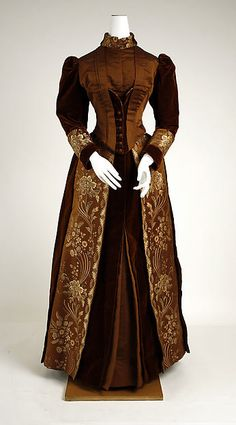 Visiting dress Designer: James McCreary and Co., N.Y. (American) Date: ca. 1889 Culture: American Medium: silk, cotton