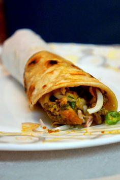 Calcutta style Chicken Rolls