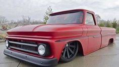 One of this sickest trucks I've seen. That red. Absolutely gorgeous. #c10 #c10trucks #chevyc10 #chevytrucks #chevyonly
