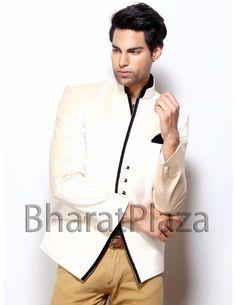 Aristocratic Off White Blazer Item code : TSBL1127  http://www.bharatplaza.com/mens-wear/mens-designer-suits/mens-blazer/aristocratic-off-white-blazer-tsbl1127.html