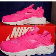 huge selection of 01fce 99cbe Nike air huaraches pinkwhite Nike air huaraches pinkwhite size 9 women  size new with box  very stylish and comfortable Nike Shoes Sneakers