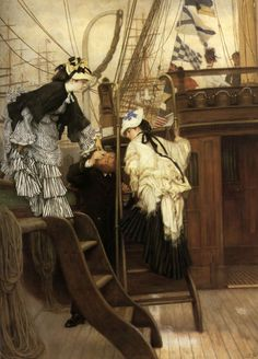 Learn more about Boarding The Yacht James Jacques Joseph Tissot - oil artwork, painted by one of the most celebrated masters in the history of art. Belle Epoque, Art Magique, Sculpture Textile, Blog Art, Beaux Arts Paris, Painting Prints, Art Prints, Art Ancien, French Artists