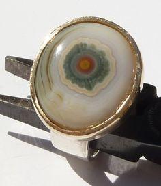 Etsy Love. http://www.etsy.com/listing/72175801/ocean-jasper-eye-sterling-ring-18kt-she