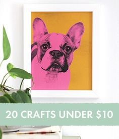 A beautiful mess blog: tons of stuff on this blog. 20 Craft Projects Under $10