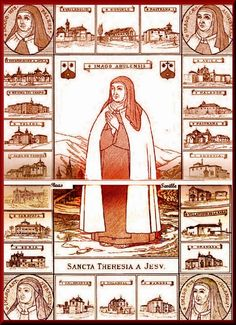 In this excerpt from the writings of St. Teresa, she instructs us to be on guard against the false experience of peace that comes from . Lady Of Mount Carmel, California Missions, Saint Quotes, Blessed Mother, Spirituality, Faith, Ocd, Writings, Image