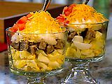 Down Home with the Neelys Breakfast Trifle Grits - Use sausage or bacon...so good!