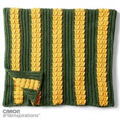 Caron School Colors Crochet Afghan, Crochet Pattern   Yarnspirations