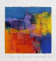 "Mar. 16, 2017 9 cm x 9 cm (app. 4"" x 4"") oil on canvas  © 2017 Hiroshi Matsumoto"