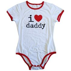 Adult Baby Onesie ADBL Onesie I love daddy | LittleForBig - Best ABDL Products at Everyday Low Price