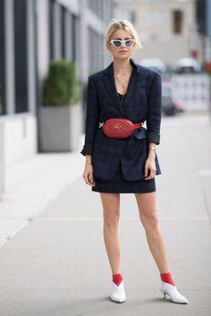 Caro Daur seen in the streets of Manhattan during the New York Fashion Week
