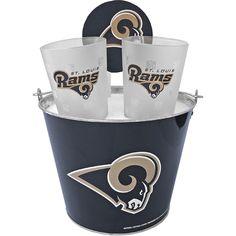St. Louis Rams Glass Bucket & Pint Set