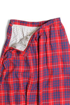 Bridge & Burn Lily Red Plaid Midi Skirt