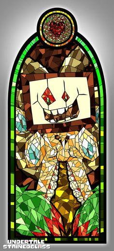 OMEGA FLOWEY - Undertale Stained Glass by Aelorz.deviantart.com on @DeviantArt