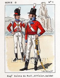 Ufficiale e fuciliere del rgt. svizzero di Roll al servizio degli inglesi