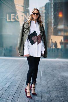 Street style à la Fashion Week automne-hiver 2017-2018 de Londres : Olivia Palermo