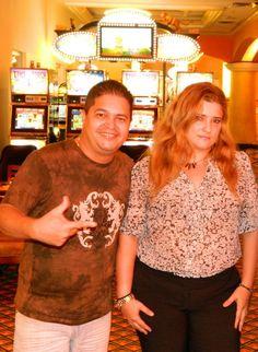 Con Manuel de Jesus Abrego en el Royal Casino