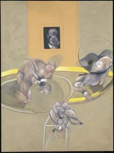 Francis Bacon 'Three Figures and Portrait', 1975 © Estate of Francis Bacon.