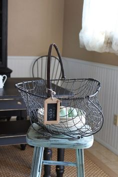 <3 Wire Egg Basket, Metal Baskets, Apothecary, Sweet Home, Boxes, Container, Collections, Cottage, Country