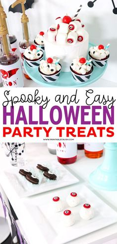 These are the EASIEST Halloween party Treat ideas you will ever try! Little to no cooking time and will definitely satisfy that sweet tooth for your Hallween parties. Halloween Party Treats, Scary Halloween Decorations, Cute Halloween, Fun Party Games, Party Ideas, 4th Of July Cocktails, Craft Activities For Kids, Kids Crafts, Just Bake