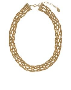 Plaited Metal Torq Necklace | Gold | Accessorize