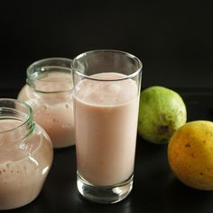 Guava yogurt smoothie...so basic so good!  (Use Greek yogurt and sub milk with Almond milk.)