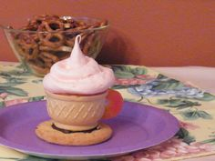 ice cream cone tea cup cupcake  perfect for a little girls tea party