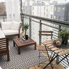 If you have a patio or balcony in your home or apartment, you wish to do as an extension of the interior. Your balcony may put in a table or two chairs. Small Balcony Design, Small Balcony Decor, Outdoor Balcony, Patio Design, Balcony Ideas, Outdoor Decor, Condo Balcony, Apartment Balcony Decorating, Apartment Balconies
