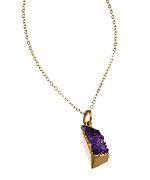Charlene K Purple Druzy Pendant Necklace