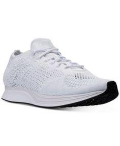 Nike Unisex Flyknit Racer Running Sneakers from Finish Line - White 10.5
