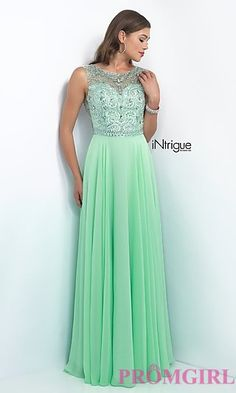 Floor Length Prom Dress with Beaded Top from Intrigue by Blush at PromGirl.com