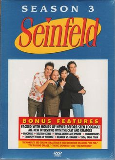 Seinfeld - Season 3 (DVD, 2004, 4-Disc Set) New Sealed, Not Rated, Full Screen