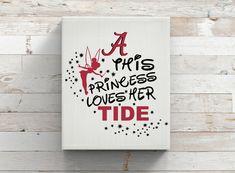 This Princess Loves Her Tide-Alabama-Tinkerbell-Team Logo-Vinyl Car Decal-Iron On-Football-Coffee Mug-Mac Book-Sticker Yeti by KGDESIGNS16 on Etsy