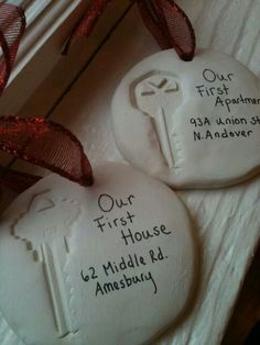 Make ornaments for the tree of molds of your first keys together! This is adorable and we WILL be doing this!
