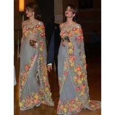 Sarees for woman Indian Wedding wear designer bollywood saree blouse Sari dress Bollywood Sarees Online, Bollywood Designer Sarees, Designer Sarees Online, Bollywood Fashion, Bollywood Party, Bollywood Style, Indian Bollywood, Bollywood Actress, Saree Fashion