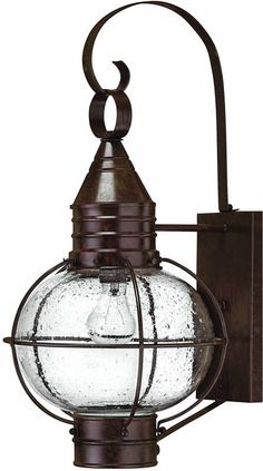 "0-016579>23""""h Cape Cod 1-Light Large Outdoor Wall Lantern Sienna Bronze"